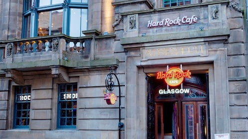 Front of Hard rock cafe in Glasgow
