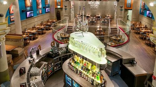 bar in Hard Rock cafe in Glasgow