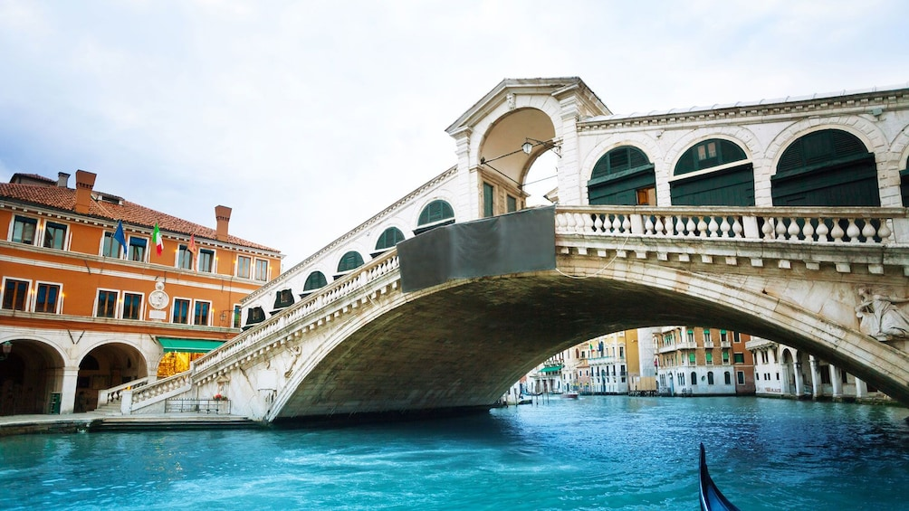 Show item 3 of 6. Closeup photo of the Rialto Bridge in Venice, Italy.