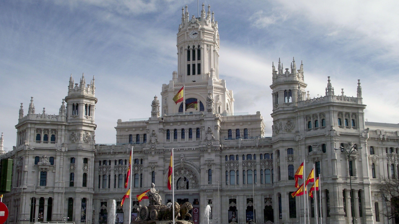 View of the Palacio De Cibeles in Madrid