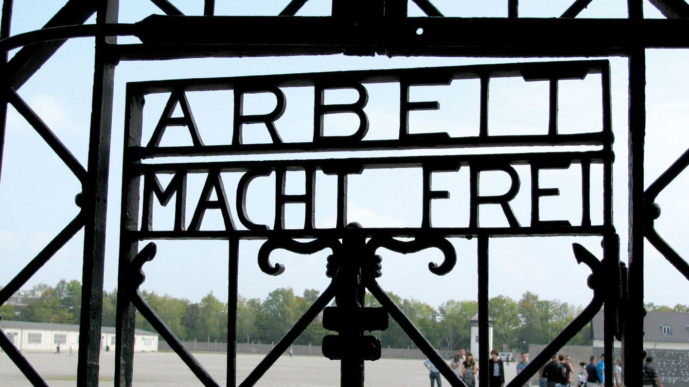 Arbeit Macht Frei gate seen on the Dachau Tour in Munich