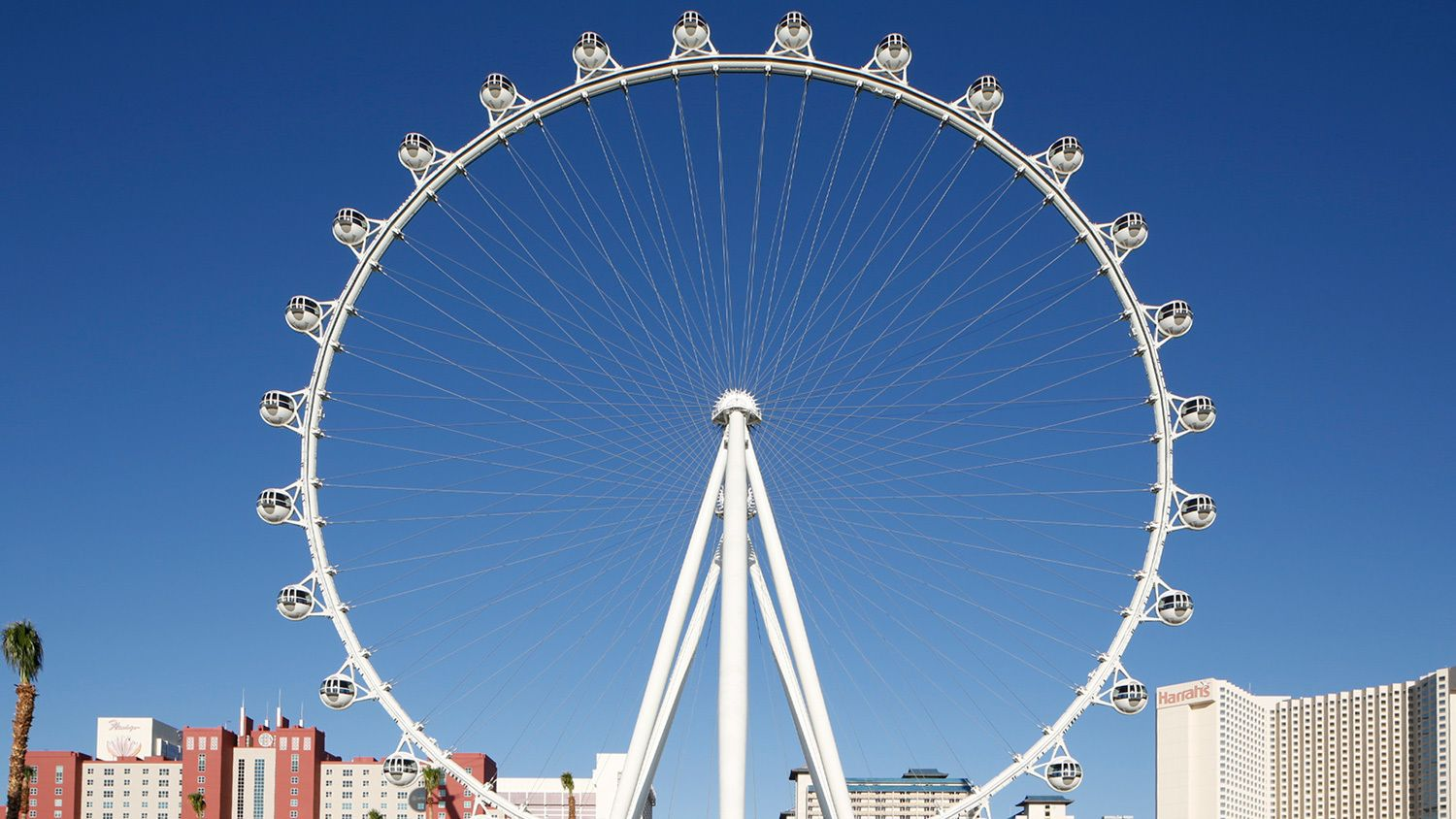 Daytime image of The High Roller Observation Wheel in Las Vegas