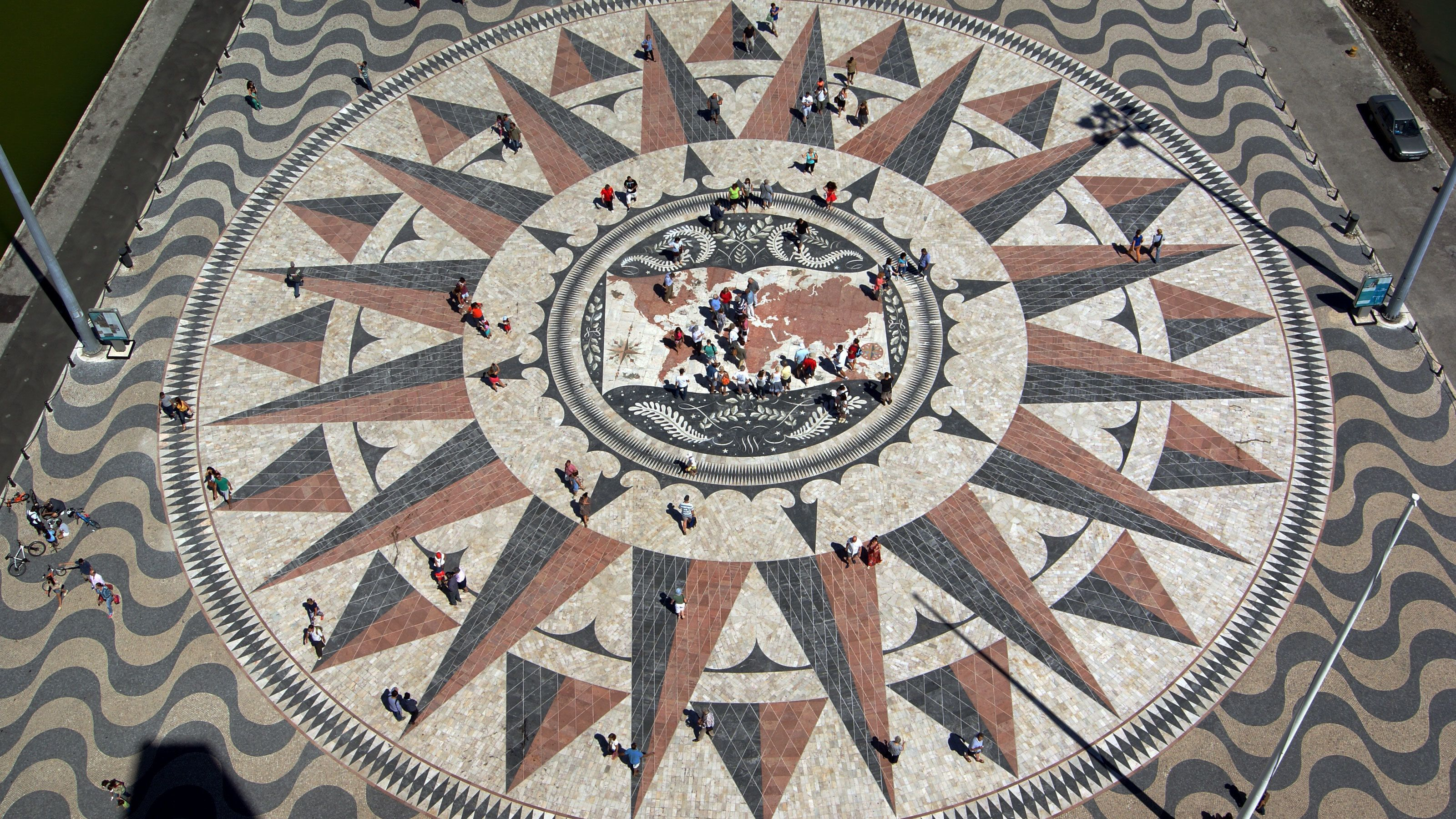 tiled landmark at Padrão dos Descobrimentos in Portugal