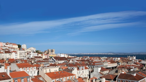 vibrant red roofs in the city of Lisbon