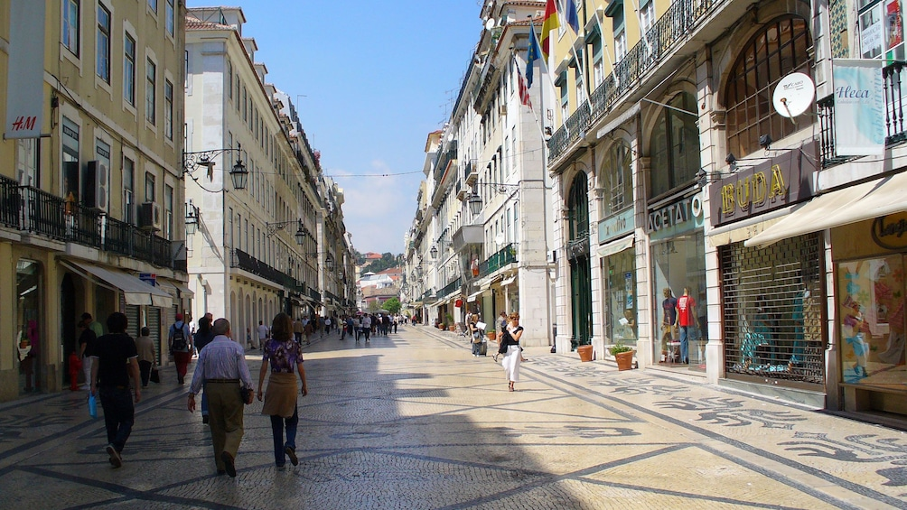 Show item 5 of 9. old tiled street in Portugal