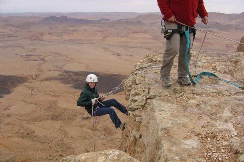Show item 2 of 6. The Ramon Crater and rappelling package tour - an exciting combo tour.