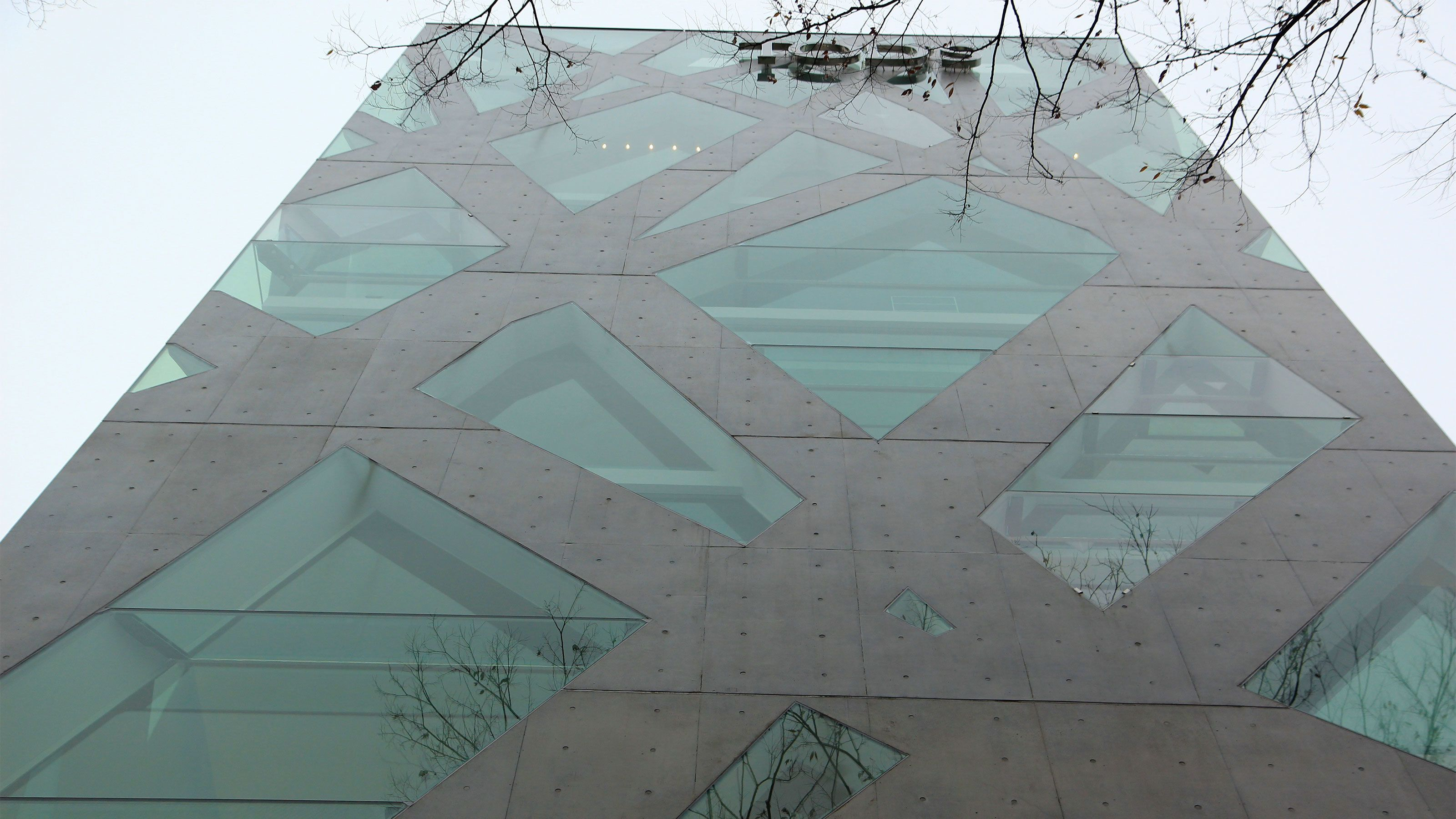 Geometric design on a skyscraper in Tokyo