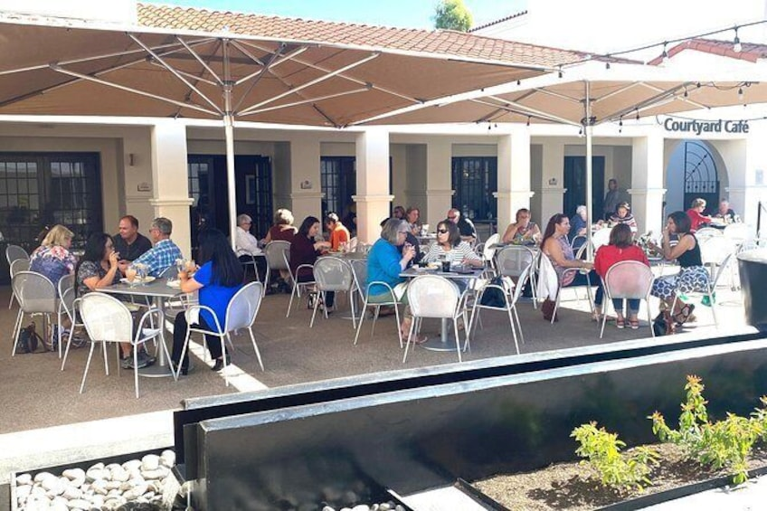 Show item 2 of 8. Courtyard Cafe at the Heard Museum is open daily from 11 a.m. to 3 p.m.
