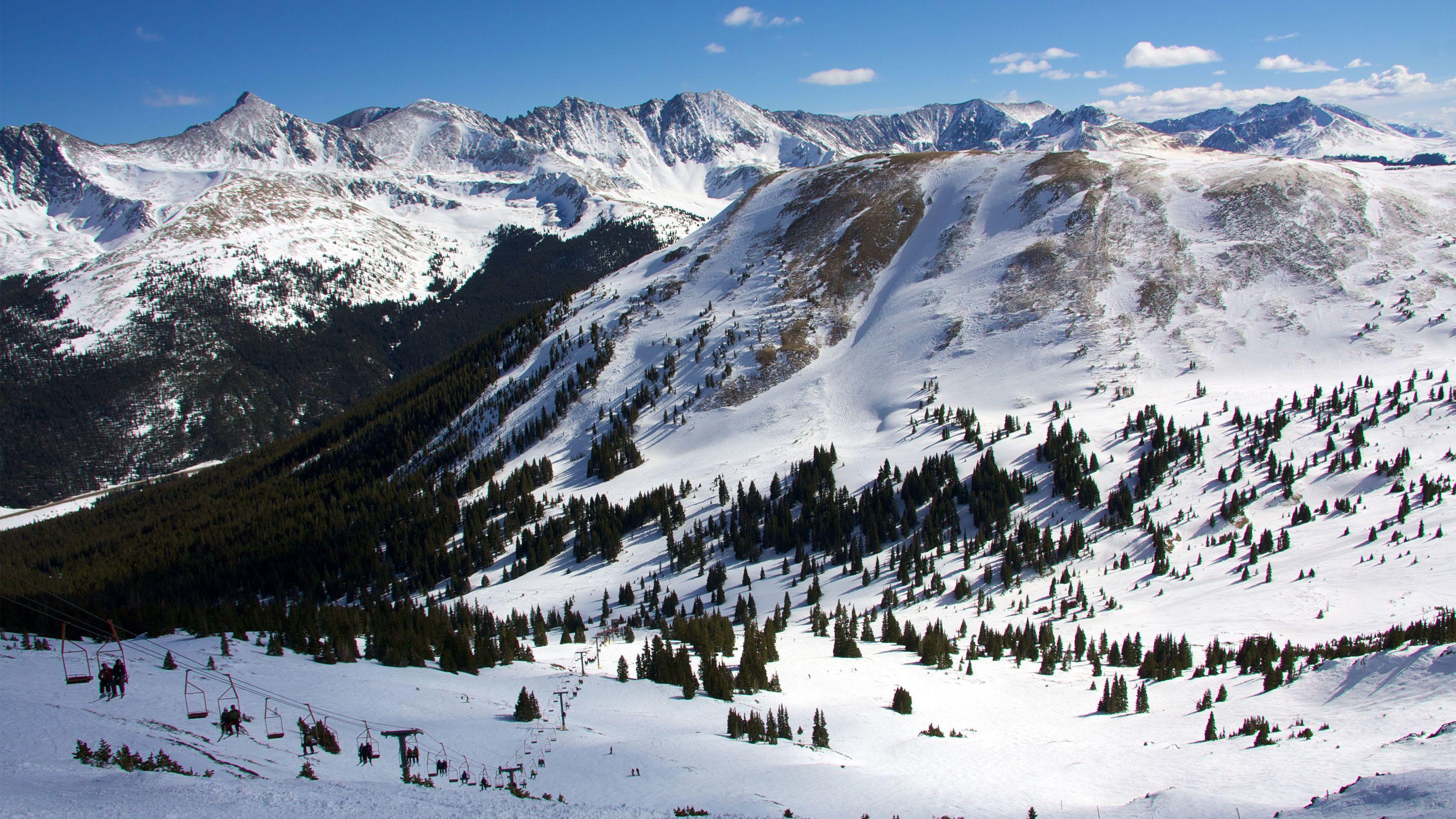 Snowy trails of Breckenridge