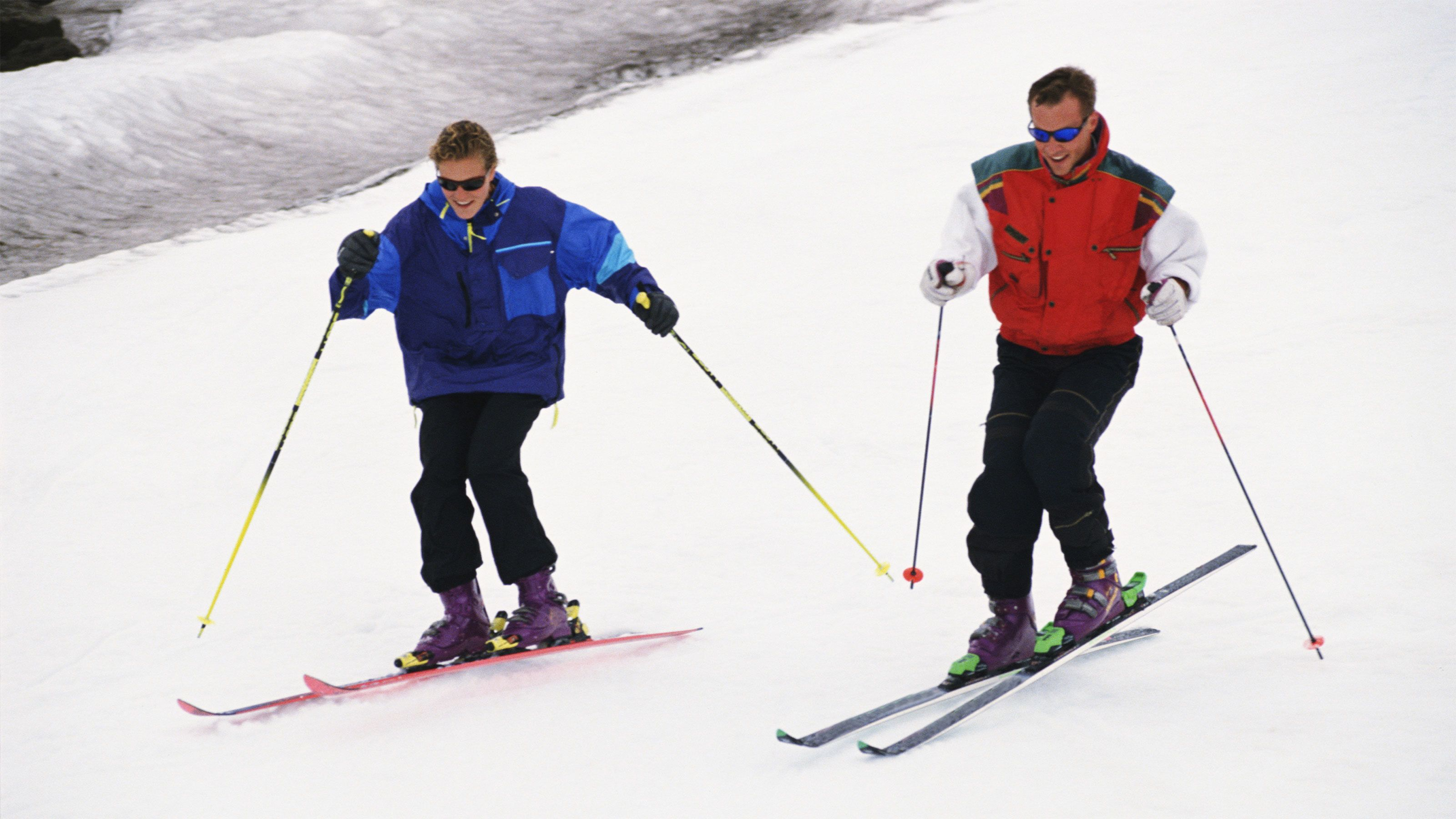 Couple on skis in Breckenridge