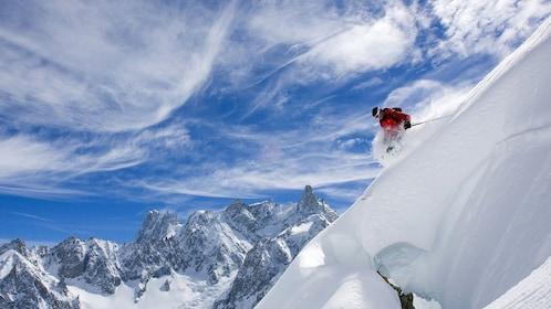 Skier on the slopes in Winter Park