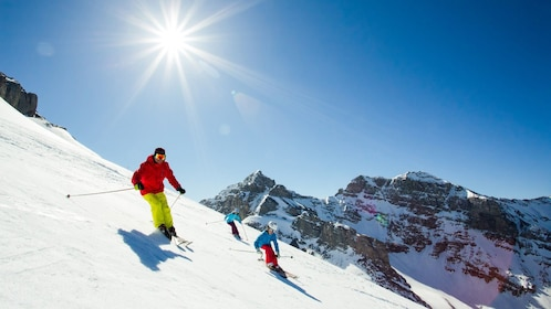 Variety of slopes with varying degrees of difficulty are available at Mount Norquay, Sunshine Village and Lake Louise ski areas