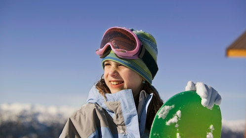 Snowboards for children are available to rent in Banff