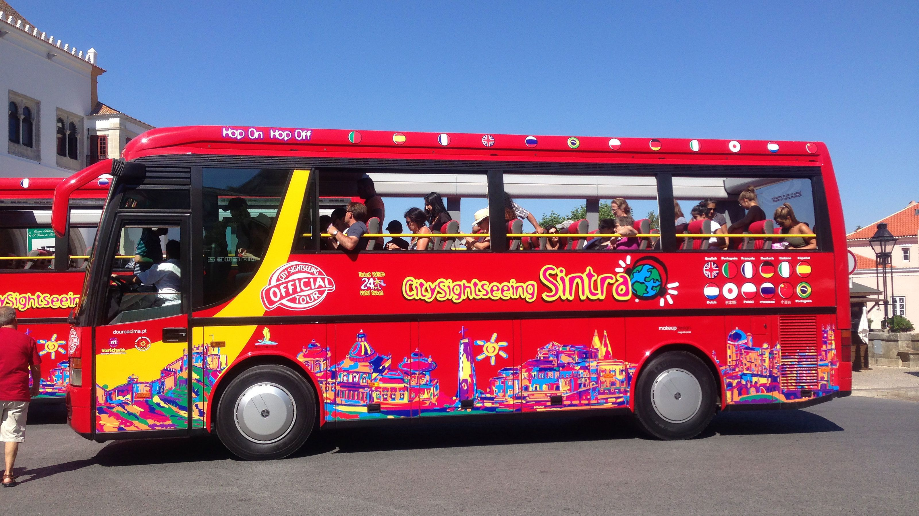 ride the double deck bus in Sintra