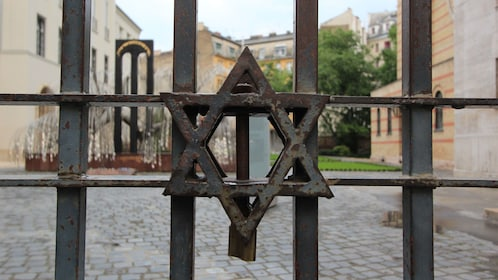 Star of David on a gate in Budapest