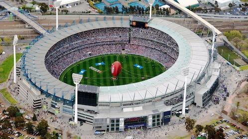 Visiting a sport stadium in Melbourne