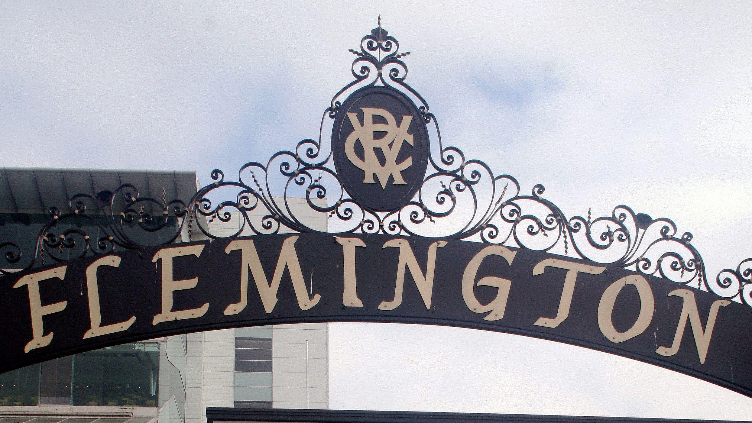 Flemington entrance gate in Melbourne