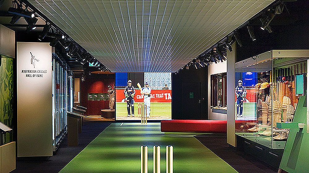 Inside the National Sports Museum in Melbourne