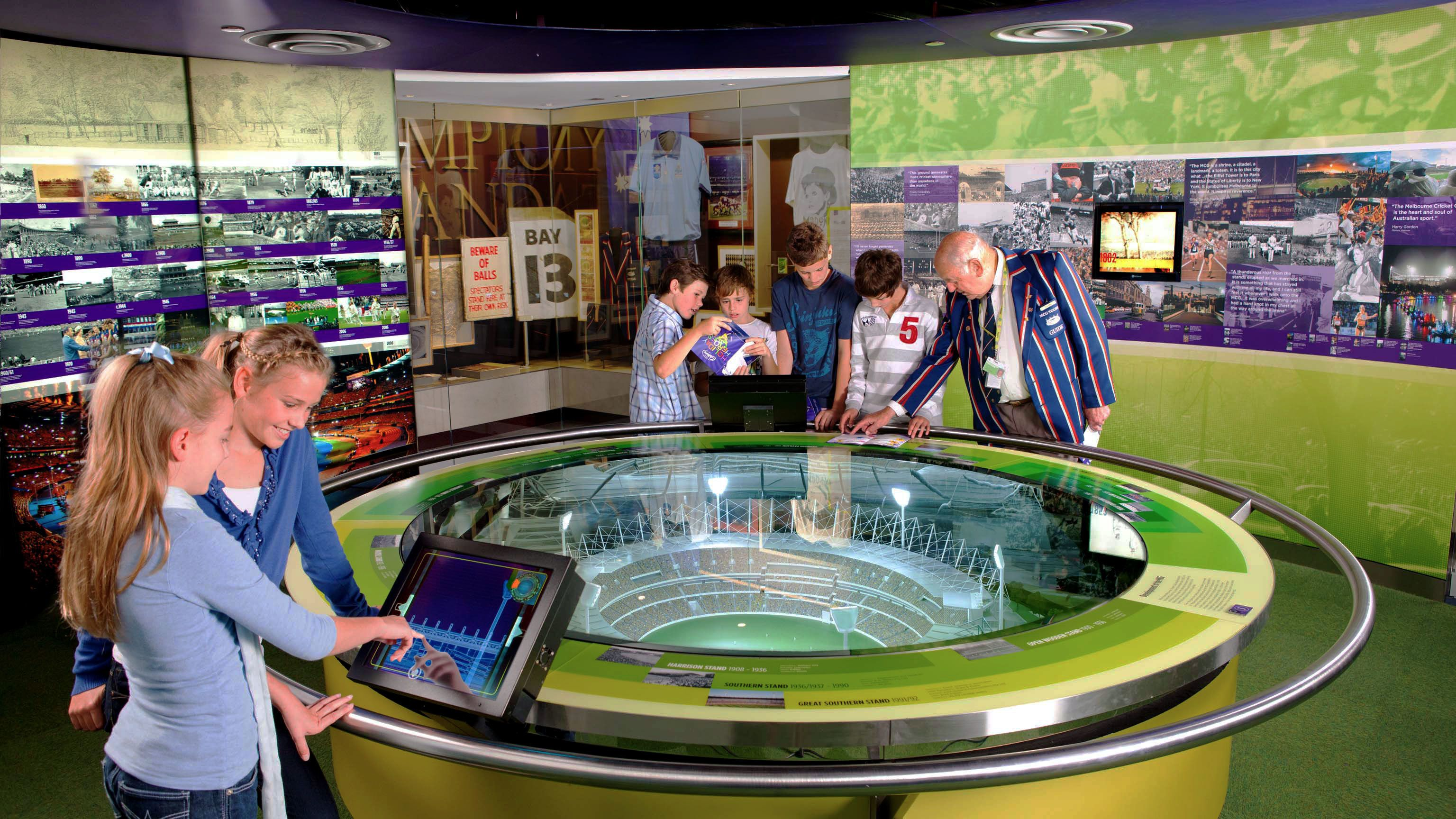 Learning about sports at the National Sports Museum in Melbourne