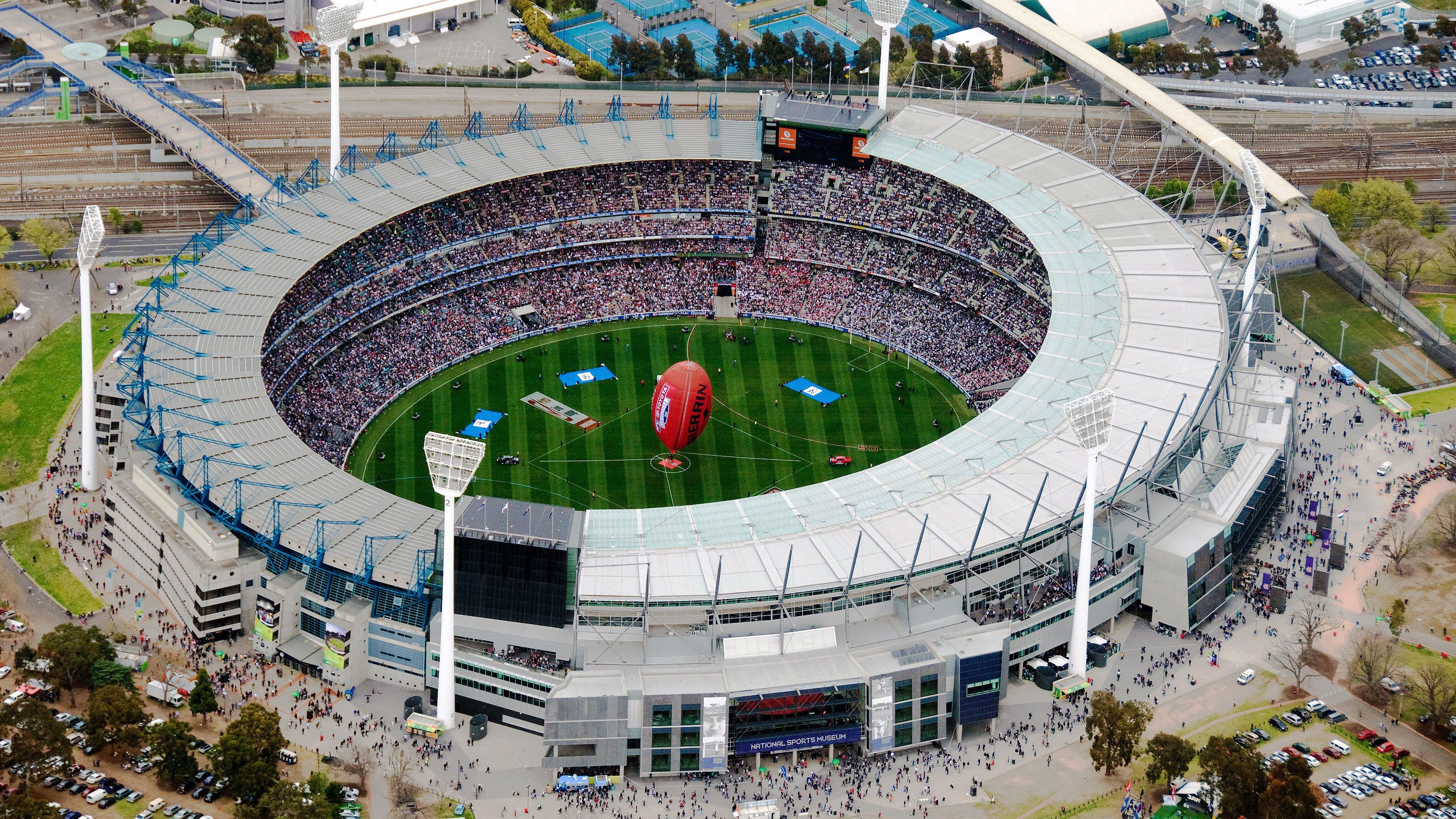 The sport stadium in Melbourne