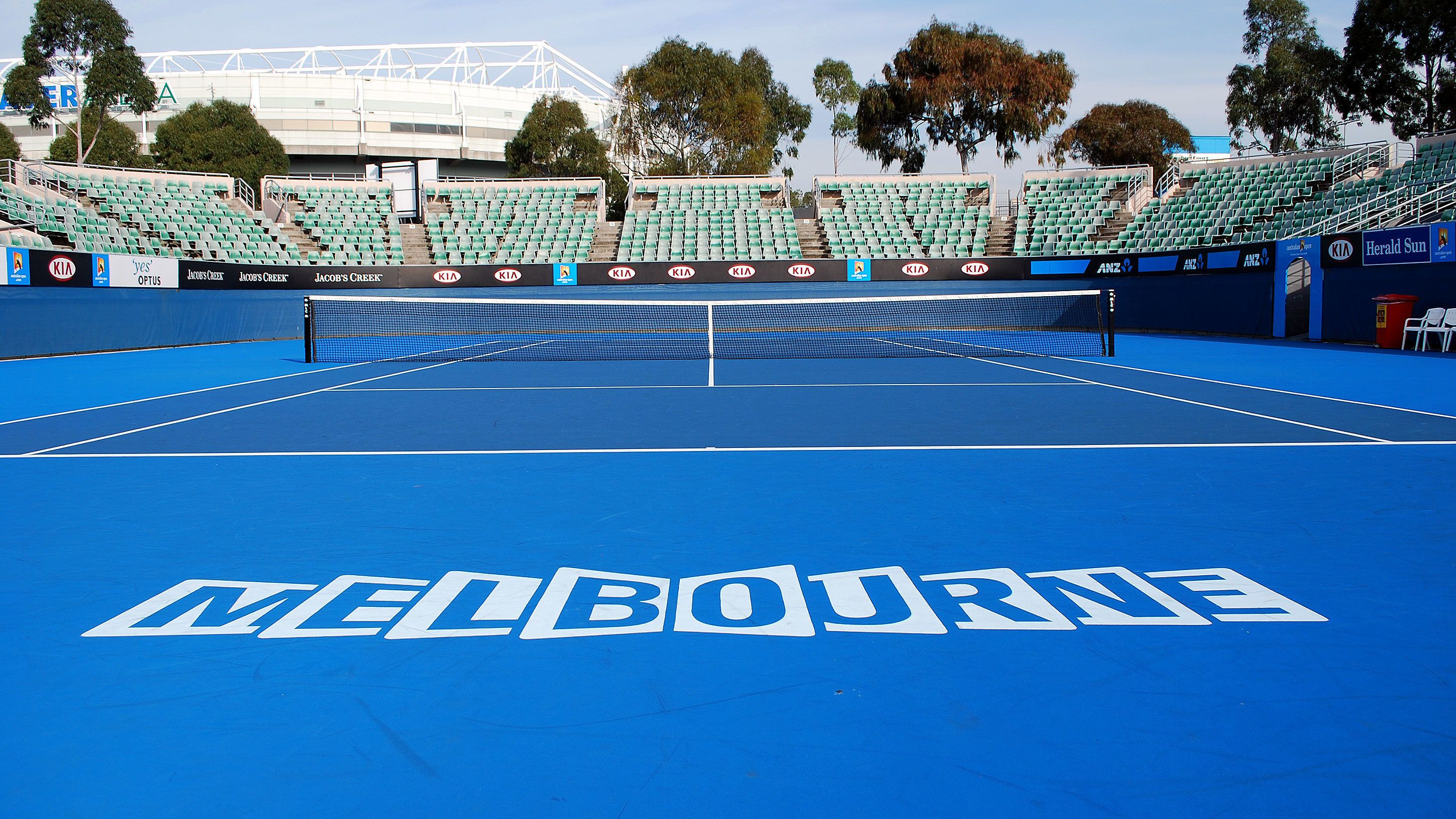 Visiting the tennis court in Melbourne