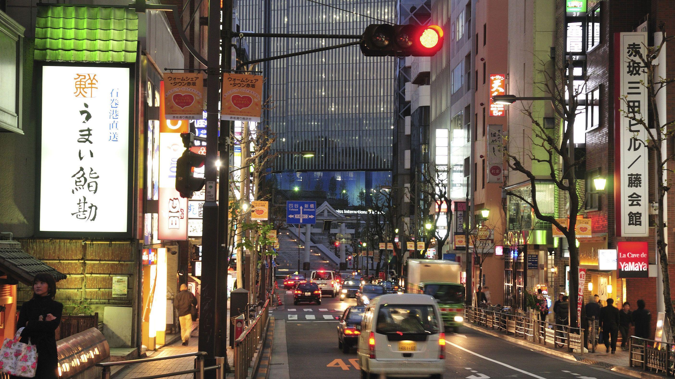 Street view of urban Tokyo