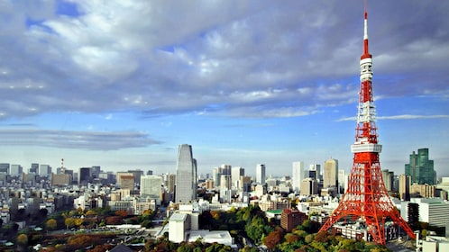 The Tokyo Tower dominates the city's skyline