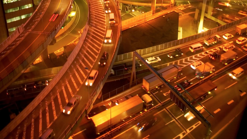 Complex highway system in Osaka