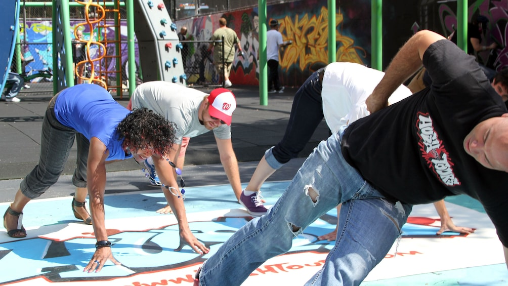 Show item 1 of 5. Breakdancing group in New York