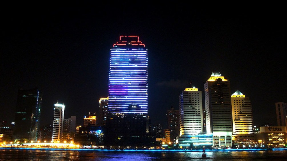 Show item 5 of 5. Night city view in Shanghai