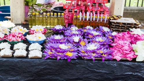 Flowers at a market in Kandy