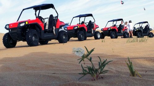 sand buggies lined up in Dubai
