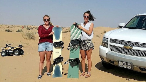two women with san boards in Dubai