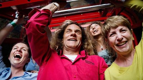Group smiling on tour in Australia