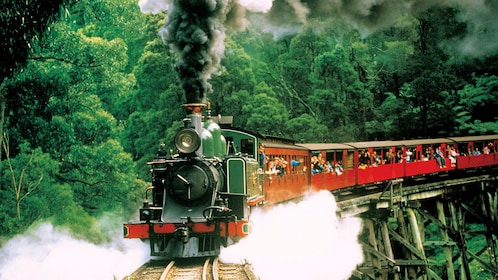 Locomotion traveling on a bridge in Australia