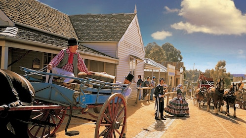 Reenacting the gold rush at Souvereign Hill in Australia