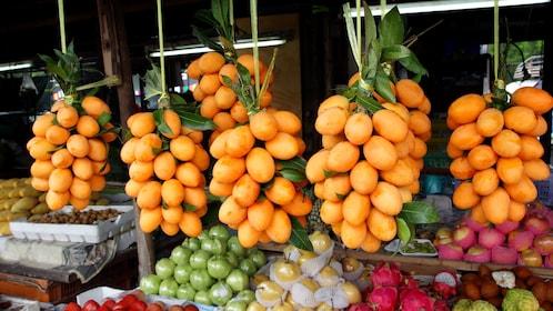 Local fruits at the street market in Bangkok