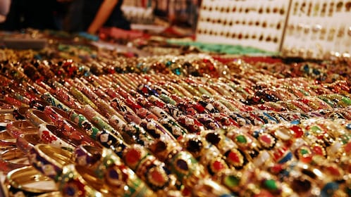Assorted metal bracelets in Chiang Mai
