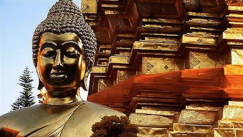 Golden statues near Chiang Mai