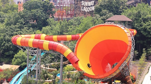 A Massive water slide at Sunway Lagoon