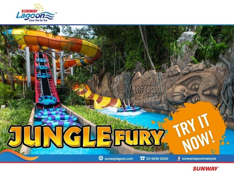 Show item 8 of 8. Sunway Lagoon Theme Park One Day Pass