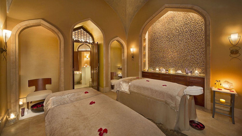 Show item 5 of 5. massage tables at Atlantis spa in Abu Dhabi