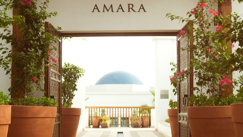 Show item 2 of 5. front entrance at Amara Spa in Abu Dhabi