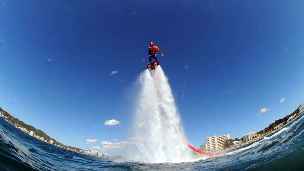 Show item 3 of 5. man fly boarding in Abu Dhabi