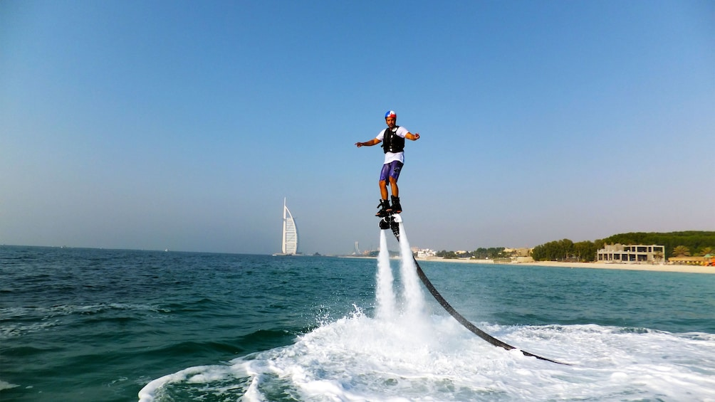 Show item 5 of 5. man fly boarding in Abu Dhabi