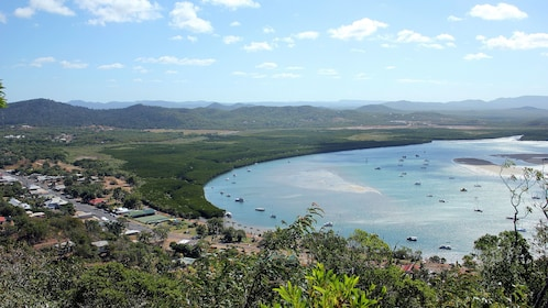 Beautiful aerial view of North Queensland in Australia
