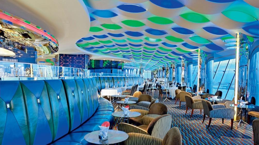 guest dining area at Burj Al Arab hotel in Abu Dhabi