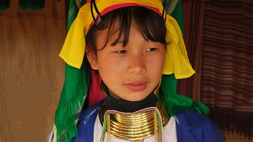 Child with long neck in Chiang Mai