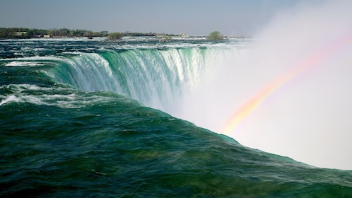 Niagara Falls with rainbow