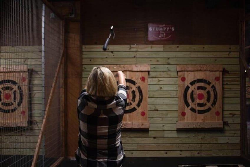Show item 1 of 9. Axe-Throwing
